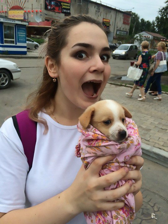 "Pic shows: Alina with a dog; A teenage girl has been arrested for torturing and killing cats and dogs with her friend and then posting the footage of their reign of terror online. Alina Orlova, 17, was arrested in the far eastern Russian city of Vladivostok where she was waiting for a connecting flight between her home city of Khabarovsk in south-eastern Russia to St Petersburg in the north-western part of the country. She and her friend, Kristina K., who likes to wear horror movie-style makeup and contact lenses, posted photographs and videos of themselves apparently torturing and killing cats and dogs for ""bloodlust"". The horrific images show one dog nailed to a wall as if it had been crucified and another hanging by its collar and then shot with an air gun. Other animals are seen dead - including one which the girls cut open to pull out its internal organs. Police became involved after animal lovers reacted with outrage to the graphic images that were posed on social media. Local residents started a petition calling on the authorities to do something about the teenage torturers. Both of the callous girls are students and live in the city of Khabarovsk in south-eastern Russiaís Khabarovsk Krai region. They said they had been adopting unwanted animals which they had promised to look after but instead they had tortured and killed them, posting photographic evidence online. Orlova is seen clutching a cute puppy with her mouth open wide as if she is about to bite it, and another image shows Kristina menacingly holding a hammer and a nail. Netizen ëDmitriy Dmitrieví said: ""Somebody should do the same to them, in the same manner they treat these animals."" And ëMaria Ivanoví added: ""OMG, I feel so bad after seeing it. One of the dogs that is still alive looks so adorable on the photo and is already hanging dead on the other one. ""How can their mothers defend it. I would have probably reported on my child if he did something like that. Horrible."" Orlova also posted that she was planning to kill her own mother, asking people how long she would have to stay in prison if she was caught. Kristina's family are believed to have close ties to the local police force in Khabarovsk, according to local media. Khabarovsk, the administrative centre of Khabarovsk Krai, lies just 30 kilometres (18 miles) from the Chinese border, at the confluence of the Amur and Ussuri Rivers."