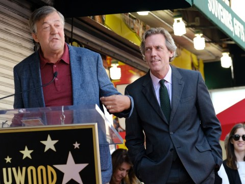 Hugh Laurie awarded star on Hollywood Walk Of Fame with best mate Stephen Fry at his side