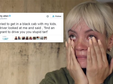 Lily Allen 'thrown out of black cab because of pro refugee stance'