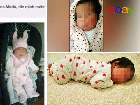 One-month-old baby girl put up for sale on eBay for 5,000 euros