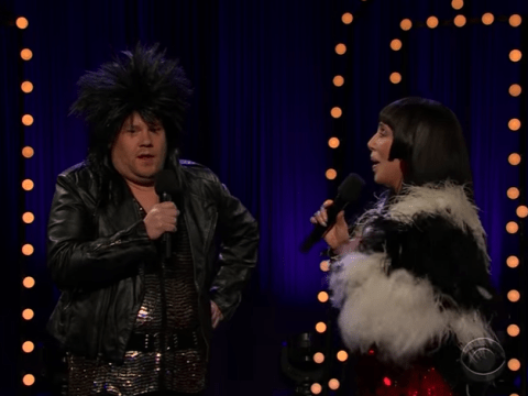 James Corden and Cher update I Got You Babe with x-rated version during saucy duet
