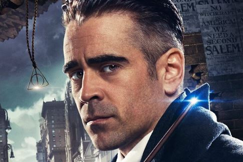 A new Fantastic Beasts poster featuring Colin Farrell as Percival Graves has revealed a Deathly Hallows link in the film (Picture: Warner Bros)