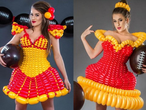 This woman makes incredible dresses out of balloons