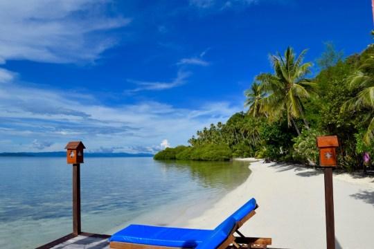 Paradise beaches in Raja Ampat, Indonesia