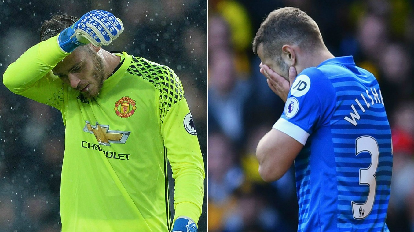 Premier League flops of the weekend: David De Gea to Jack Wilshere… players who probably should have stayed at home