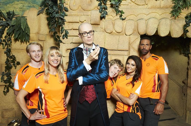 First look at new celeb crystal maze Picture: Channel 4 REF: http://www.digitalspy.com/tv/news/a810098/crystal-maze-first-look-stephen-merchant-host-picture/ TAKEN AS IT'S A PROMO PIC