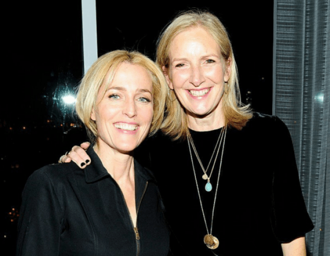 Gillian Anderson and Jennifer Nadel have written a self help book together (Picture: Twitter)