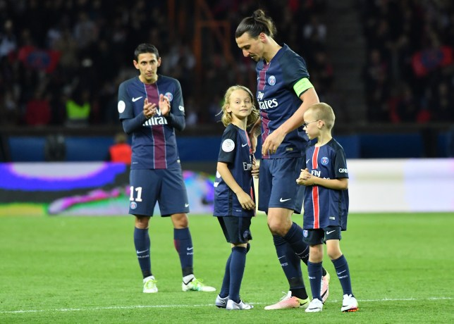 reputable site f55fd 331de Zlatan Ibrahimovic's two children join Manchester United's ...