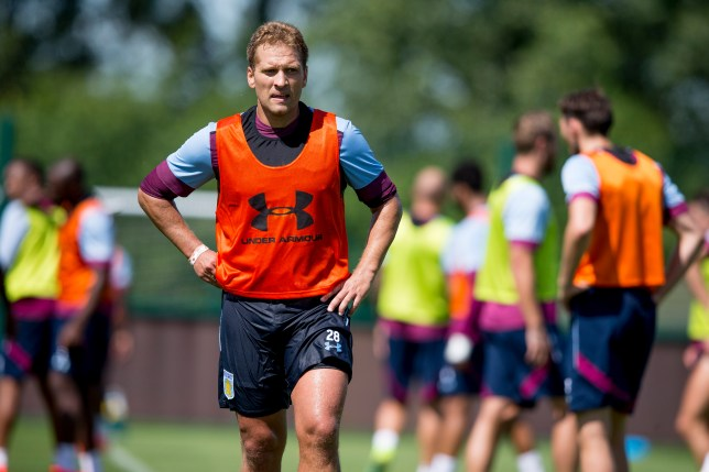 BIRMINGHAM, ENGLAND - JULY 04 : Stiliyan Petrov of Aston Villa in action during a Aston Villa training session at the club's training ground at Bodymoor Heath on July 04, 2016 in Birmingham, England. (Photo by Neville Williams/Aston Villa FC via Getty Images)