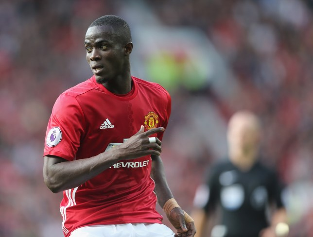 MANCHESTER, ENGLAND - OCTOBER 02: Eric Bailly of Manchester United in action during the Premier League match between Manchester United and Stoke City at Old Trafford on October 2, 2016 in Manchester, England. (Photo by John Peters/Man Utd via Getty Images)