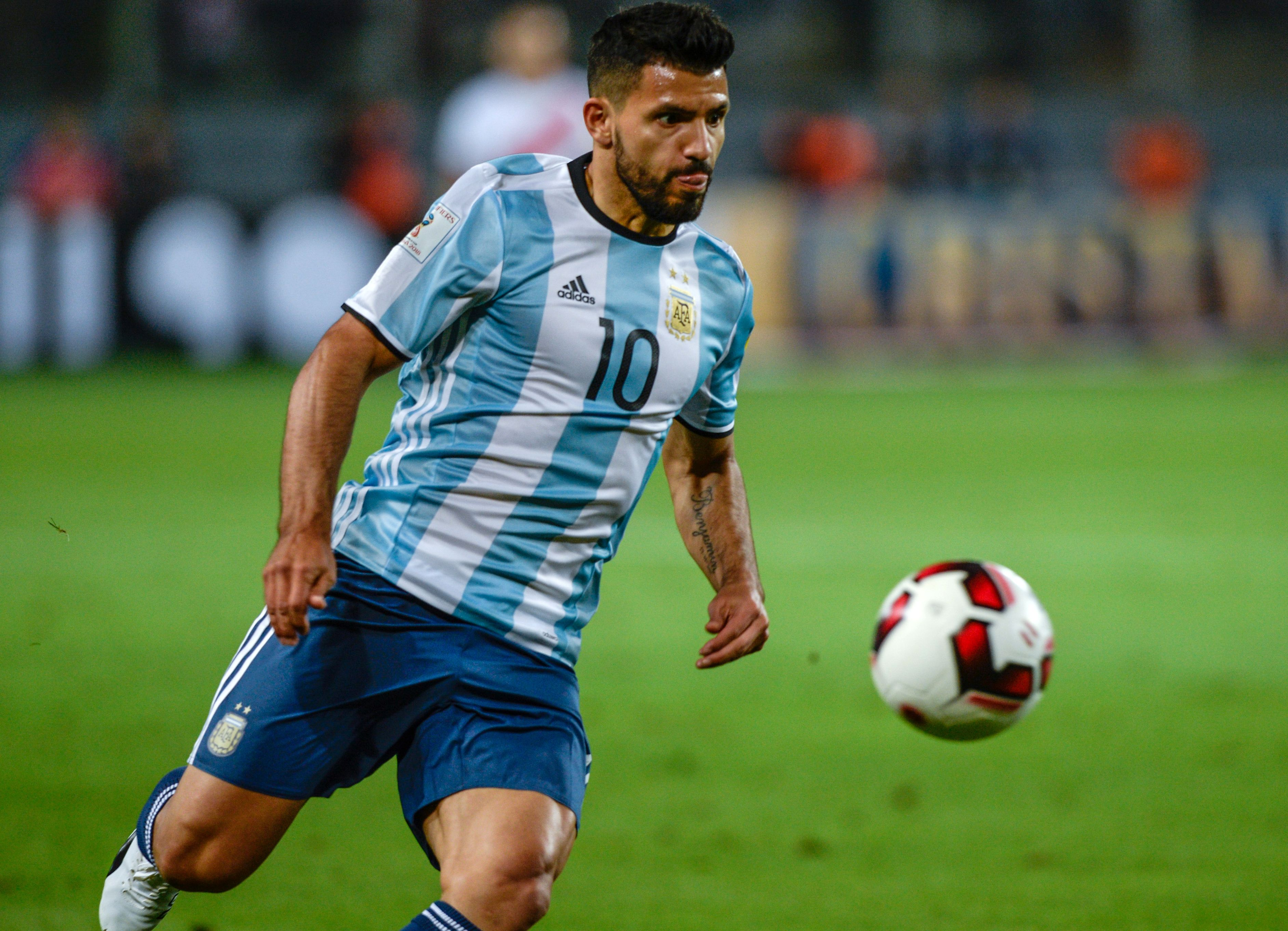 Manchester City sweat after Sergio Aguero picks up injury on Argentina duty
