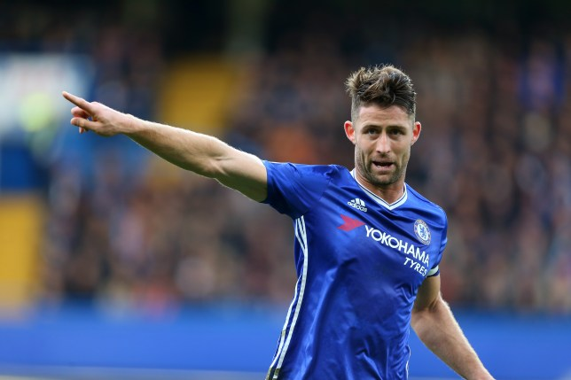 LONDON, ENGLAND - OCTOBER 23: Gary Cahill of Chelsea during the Premier League match between Chelsea and Manchester United at Stamford Bridge on October 23, 2016 in London, England. (Photo by Catherine Ivill - AMA/Getty Images)