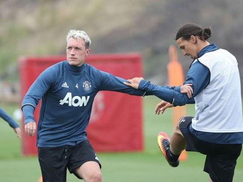 Phil Jones returns to full Manchester United training amid defensive crisis