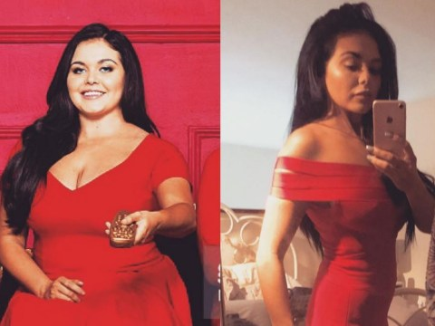 Birthday girl Scarlett Moffatt shows off incredible side-by-side weight loss snaps taken one year apart