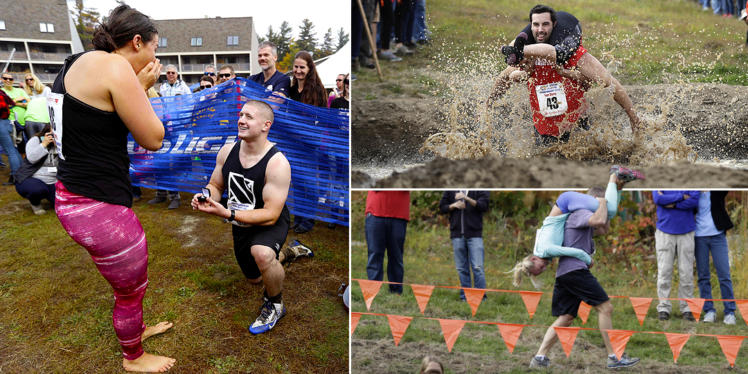 There's a championship for wife-carrying and it's pretty incredible
