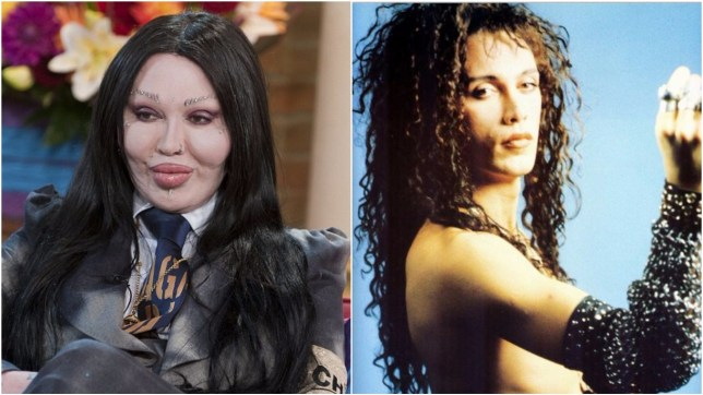 Pete Burns' younger self is unrecognisable from the one we knew in recent years (Picture: ITV/Getty)