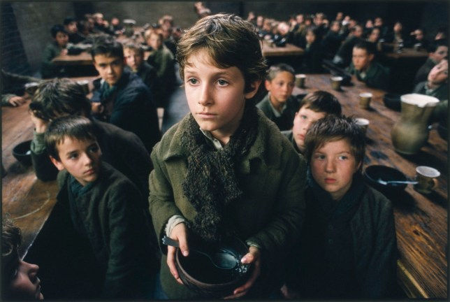 """Film: """"Oliver Twist"""" (2005) Barney Clark as """"Oliver"""" Please Sir can I have some more?"""""""