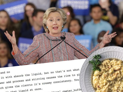 Hillary's hacked emails revealed a bangin' risotto recipe