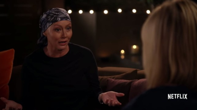 Shannen Doherty made her friend Chelsea Handler cry on TV (Picture: Netflix)