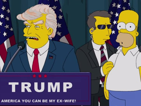 The Simpsons star explains how the show 'predicted' Donald Trump's presidency