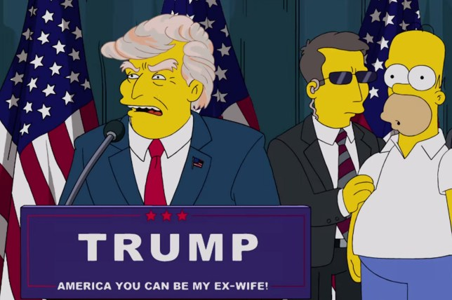 Donald Trump in The Simpsons Picture; 20th Century FOX