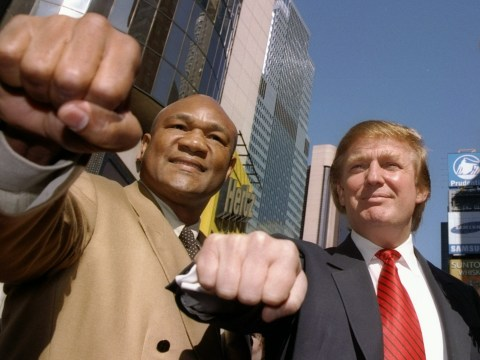George Foreman will be voting for Donald Trump in the US election because he'll get to have more 'fun'