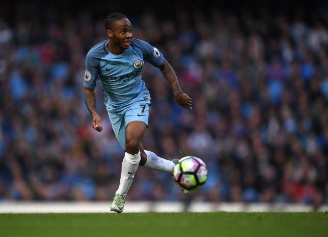 MANCHESTER, ENGLAND - OCTOBER 23: Raheem Sterling of Manchester City in action during the Premier League match between Manchester City and Southampton at Etihad Stadium on October 23, 2016 in Manchester, England. (Photo by Laurence Griffiths/Getty Images)