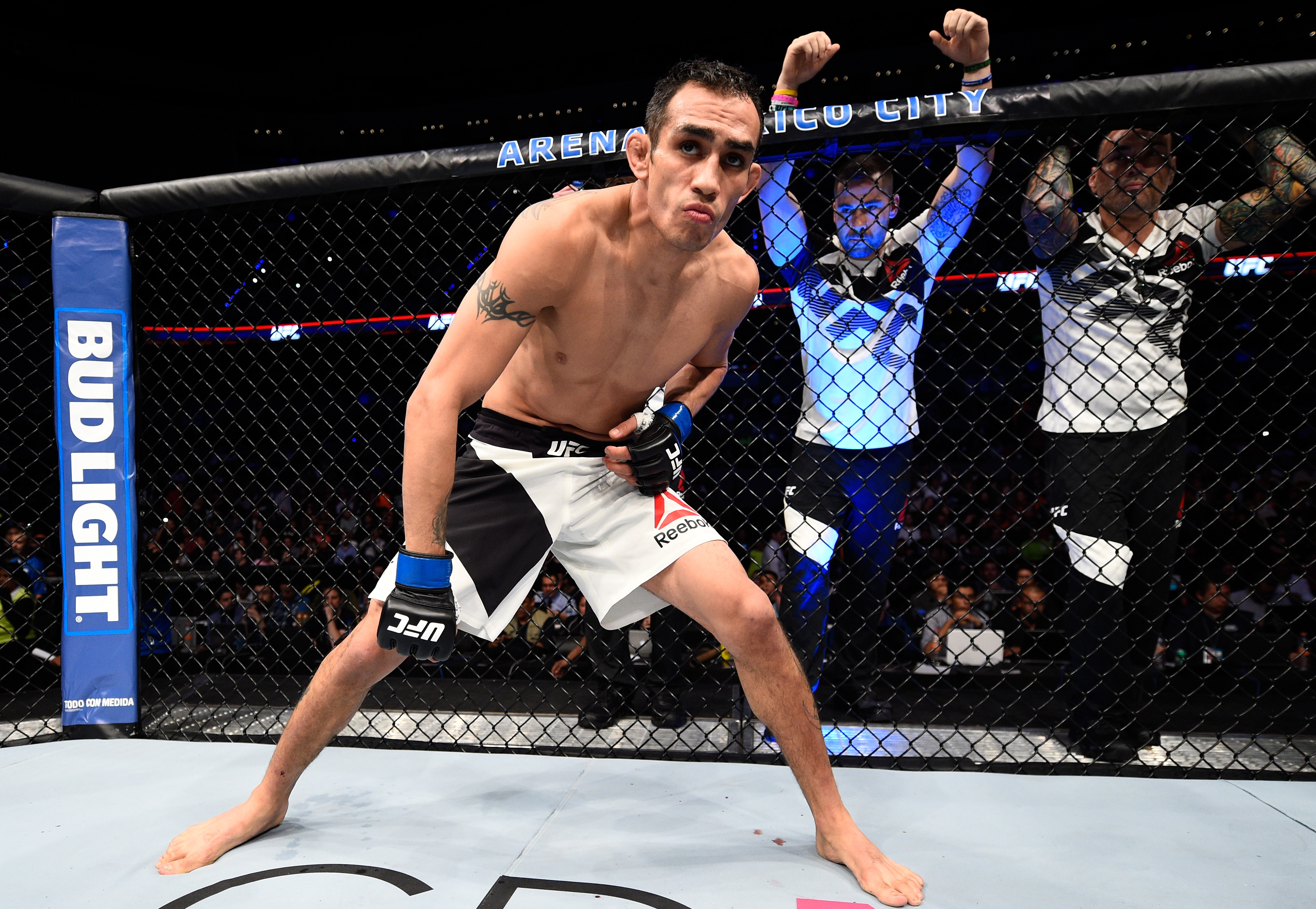 Tony Ferguson within touching distance of lightweight title shot after record breaking win over Rafael dos Anjos at UFC Fight Night 98