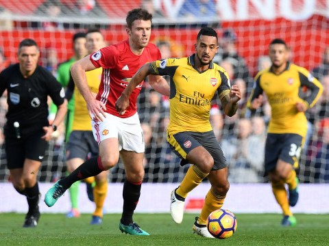 Theo Walcott blames himself for Juan Mata's goal for Manchester United against Arsenal