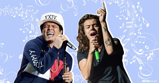 Harry Styles is working with Bruno Mars on his solo material (Picture: Getty Images)