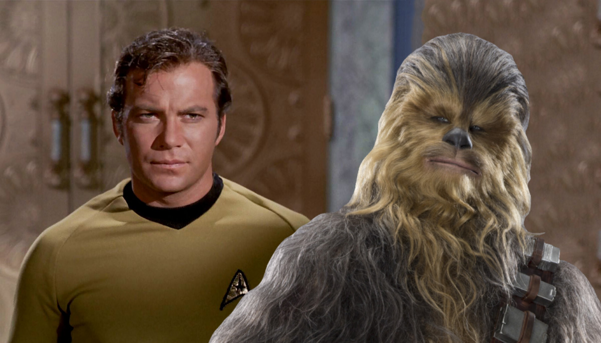 Captain Kirk and Chewbacca have reignited the Star Wars V Star Trek fandom war