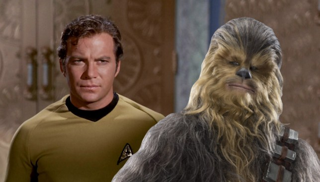 Captain Kirk and Chewbacca reignite the Star Wars V Star Trek fandom war |  Metro News