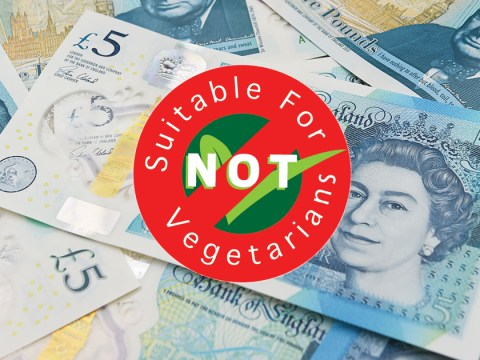 The Bank of England is working on 'potential solutions' to non-veggie £5 notes
