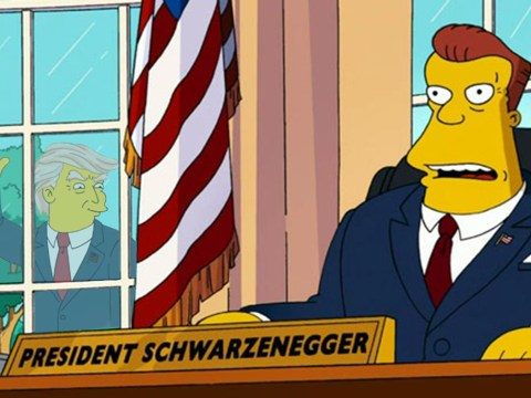 The Simpsons predicts Arnold Schwarzenegger will succeed Trump as President