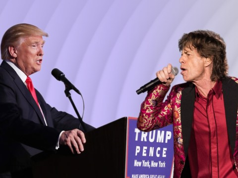 The Rolling Stones star Mick Jagger made a Donald Trump joke but it's way too soon
