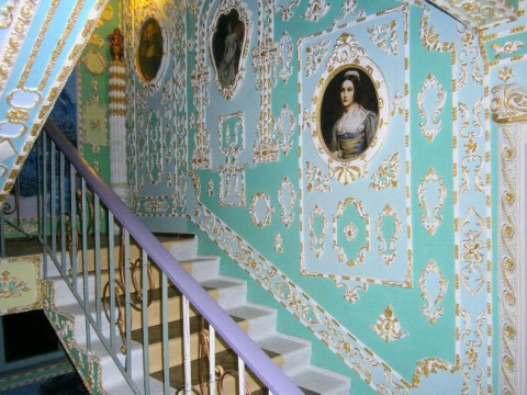 A pensioner spent 15 years decorating his apartment building to look like Versailles