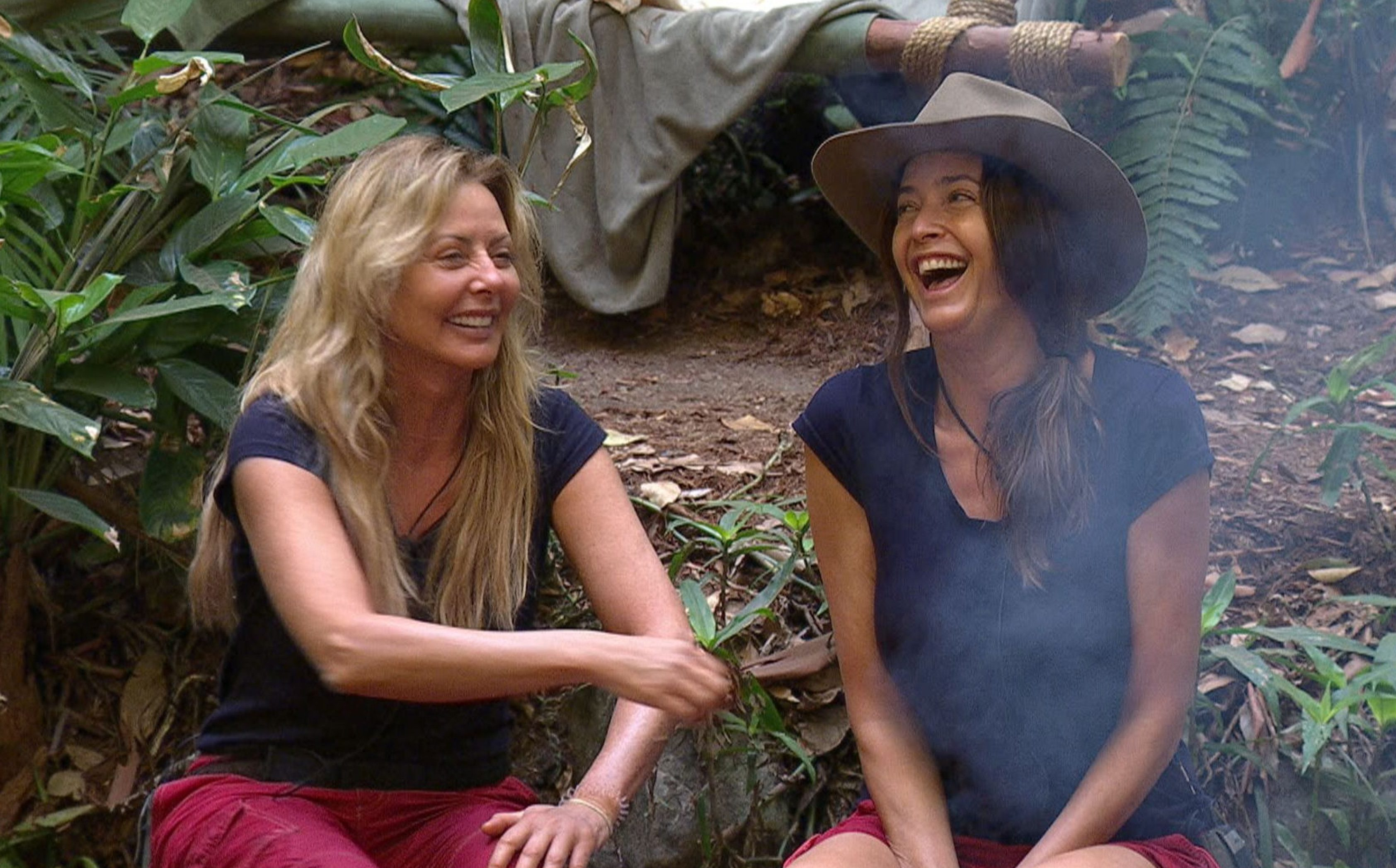 ***EMBARGO, NOT TO BE USED BEFORE 22:30 GMT, 25 Nov 2016 - EDITORIAL USE ONLY - NO MERCHANDISING*** Mandatory Credit: Photo by ITV/REX/Shutterstock (7523829eo) Carol Vorderman tells a tale of nipple tassles to Lisa Snowdon 'I'm a Celebrity...Get Me Out of Here!' TV Show, Australia - 25 Nov 2016