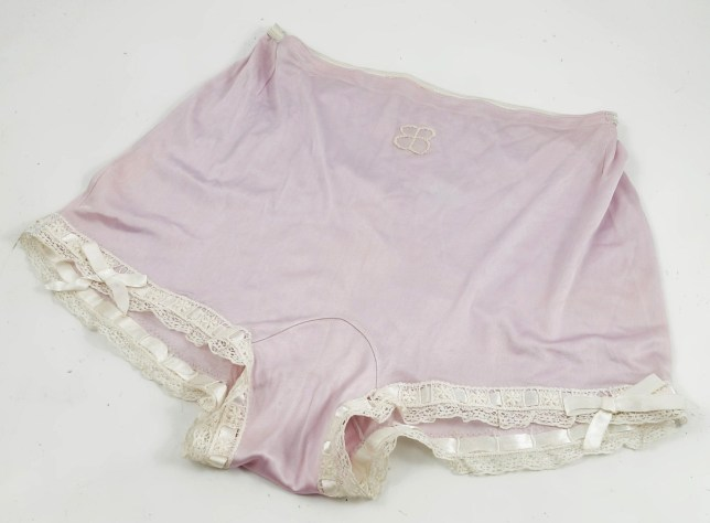 BNPS.co.uk (01202 558833) Pic: PhilipSerrellAuctions/BNPS Nazi swas-knickers... Eva Braun's lace and ribbon under garments. A pair of silk knickers and red lipstick Adolf Hitler's mistress used to make herself attractive to the Nazi dictator have been revealed after 70 years. The pair of lilac undies belonged to Eva Braun and even have her monogrammed initials embroidered on the front of them as proof. They were liberated by an American serviceman who found them in an abandoned bunker in the Platterhof Hotel which was next to Hitler's Berghof home in the Bavarian Alps.