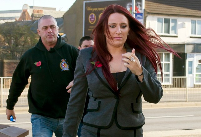 "Deputy leader of Britain First, Jayda Fransen, arrives at Luton Magistrates' Court, where she is charged with religiously aggravated assault after helping lead a so-called ""Christian patrol"" through the streets of Luton in January. PRESS ASSOCIATION Photo. Picture date: Wednesday November 2, 2016. See PA story COURTS BritainFirst. Photo credit should read: David Mirzoeff/PA Wire"
