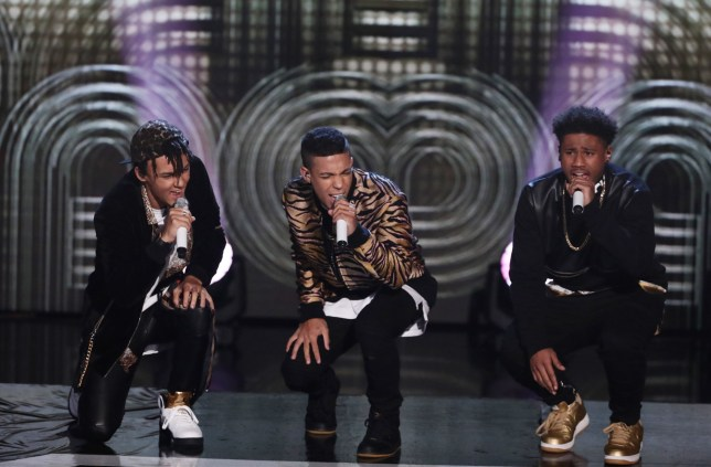 *** MANDATORY BYLINE TO READ: Syco / Thames / Dymond ***<BR /> Sam Lavery. The X Factor Live Finals - 5 November 2016 **Embargoed until 8pm** <P> Pictured: 5 After Midnight <B>Ref: SPL1387859 051116 </B><BR /> Picture by: Syco / Thames / Dymond<BR /> </P><P>