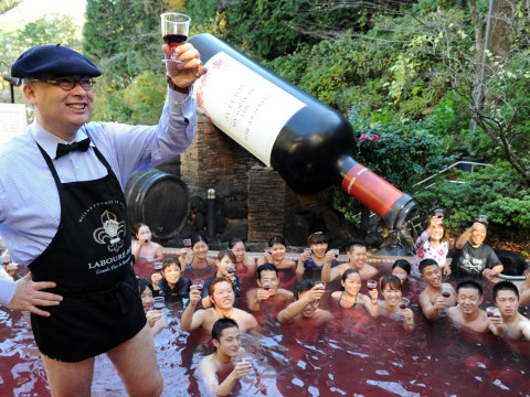 Attention: There's a spa in Japan where you can actually swim in wine
