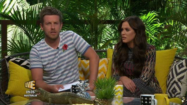 I'm a Celebrity Extra Camp. Broadcast on ITV2HD Featuring: Chris Ramsay, Vicky Pattison When: 14 Nov 2016 Credit: Supplied by WENN **WENN does not claim any ownership including but not limited to Copyright, License in attached material. Fees charged by WENN are for WENN's services only, do not, nor are they intended to, convey to the user any ownership of Copyright, License in material. By publishing this material you expressly agree to indemnify, to hold WENN, its directors, shareholders, employees harmless from any loss, claims, damages, demands, expenses (including legal fees), any causes of action, allegation against WENN arising out of, connected in any way with publication of the material.**