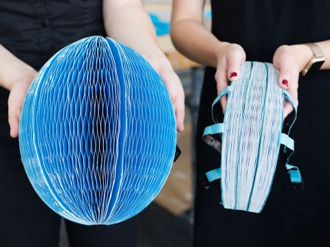 New bike helmet can be folded up into the size of a book