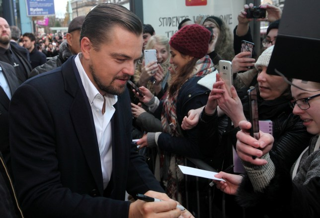 Hollywood A-Lister Leonardo DiCaprio arrives at Home Restaurant in Edinburgh, owned by Social Bite, where he will meet and feed homeless. Nov 17 2016