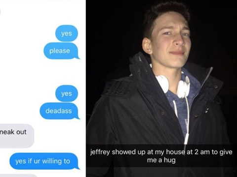 This guy who snuck out to 'deliver' his friend a hug at 2am is ultimate friendship goals