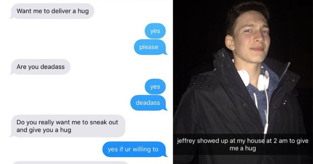 Guy 'delivers' friend a hug at 2am and shows true friendship