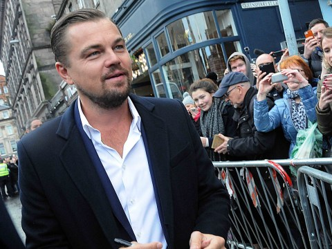 Most of Edinburgh is gutted Leonardo DiCaprio was right there and they didn't get to meet him