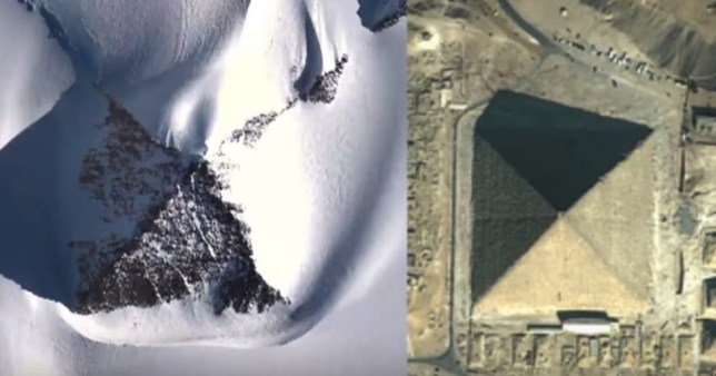 Pyramid of the Antarctic (YouTube/Third Phase of the Moon) grab from: https://www.youtube.com/watch?v=okYATktqB5E&t=147s