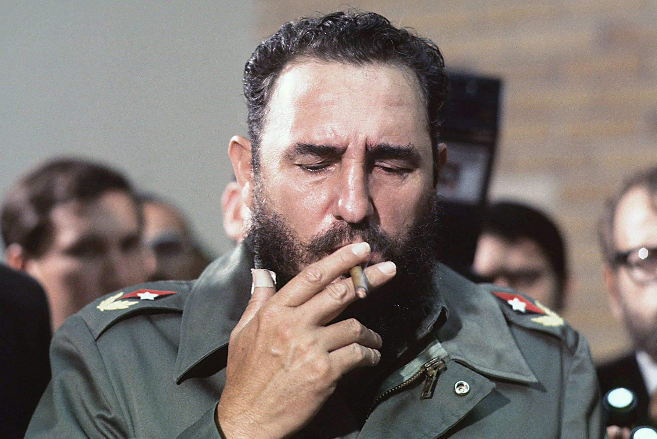 Mandatory Credit: Photo by Gallo Images/REX/Shutterstock (1769927a) Fidel Castro Fidel Castro, Havanna, Cuba - 01 May 1975 Fidel Castro during the visit of Senator McGovern to Havanna