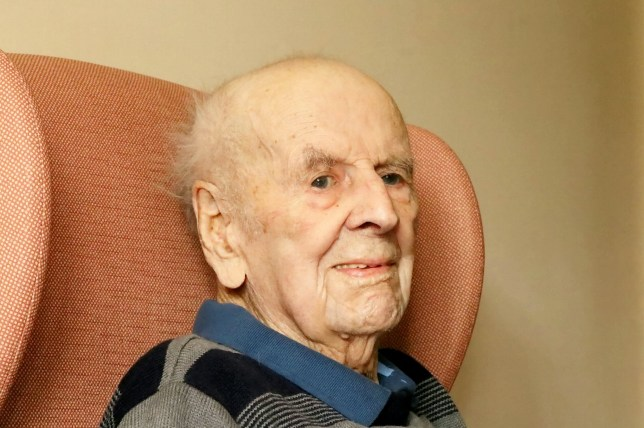 FILE PICTURE - John Mansfield, known as Jack, who was the oldest man in Britain at the age of 108 and said the secret to a long life was hard work and a daily FRY-UP. Jack, was born in 1907 meaning he lived through 19 Prime Ministers, five monarchs and survived two world wars. See NTI story NTIOLD. A loving son has paid tribute to his father, who became Britain's oldest man just six weeks before he sadly died. John Mansfield, known as Jack, was weeks away from his 109th birthday when he passed peacefully in his sleep on Sunday afternoon, November 27. In October, it was reported how the centenarian, from Mayfield, had lived longer than every other man in the country. Mourners will be asked to wear red at Mr Mansfield's funeral in recognition of his beloved Manchester Utd Football Club.